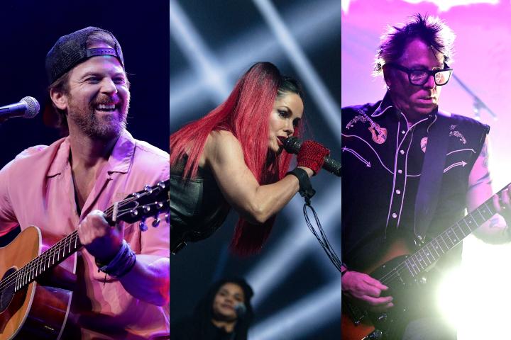 Singer Kip Moore, AQUA singer Lene Nystrom, Guitarist/vocalist Noodles of the band Offspring.
