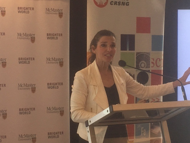 Minister of Science and Sport Kirsty Duncan was in Hamilton on Tuesday morning to announce funding for science and engineering researchers.
