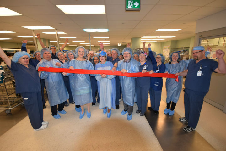 The Royal Victoria Regional Health Centre opens its expanded medical device reprocessing department with a ribbon-cutting ceremony.