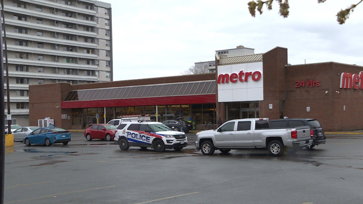 A violent assault at the Metro at Princess and Barrie streets sent one man to hospital early Wednesday morning.