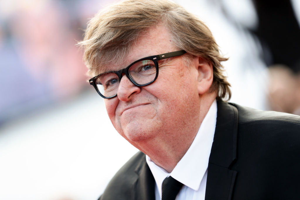 """Michael Moore attends the closing ceremony screening of """"The Specials"""" during the 72nd annual Cannes Film Festival on May 25, 2019 in Cannes, France."""