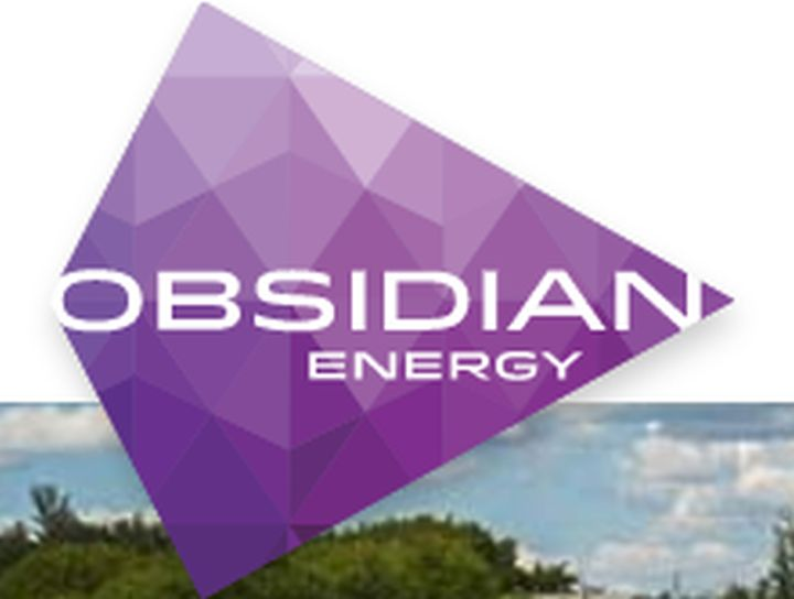 A file photo of the logo for Obsidian Energy.