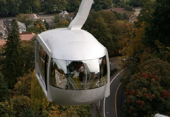 An image of Portland's Aerial Tram. Burnaby city council is slated to vote on supporting a similar gondola.