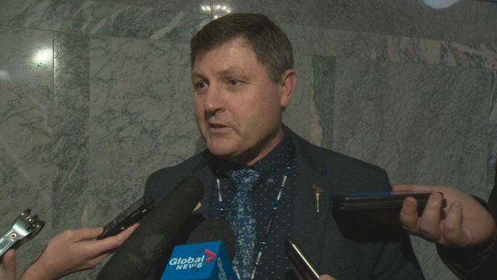 Indigenous Relations Minister Rick Wilson speaks to reporters on May 28, 2019.