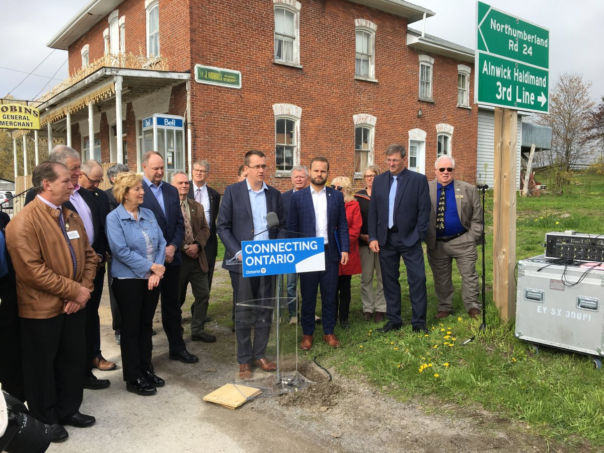 Minister of Infrastracture Monte McNaugthon announced $71 million for the Eastern Ontario Regional Network to improve cellular and broadband service in eastern Ontario.