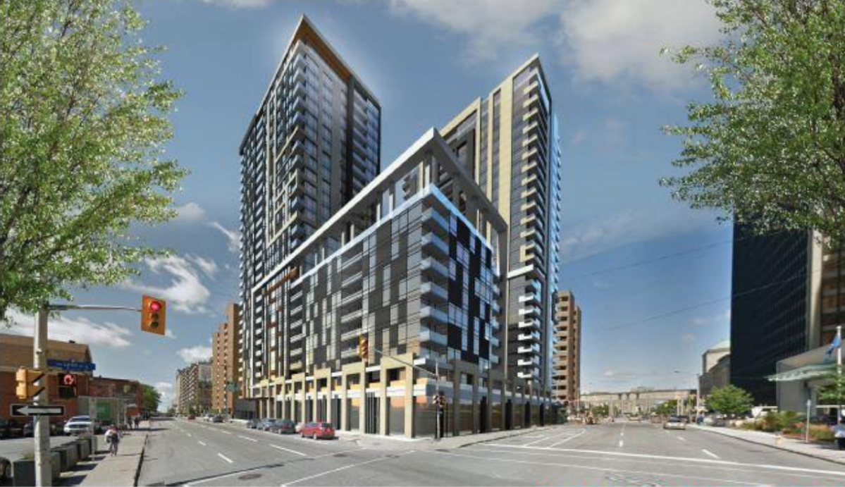 Planning Committee Oks Proposed Pair Of Residential Towers Connecting To Ottawa Lrt Station Downtown Ottawa Globalnews Ca
