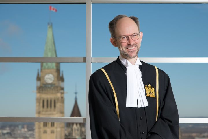 For the first time the Federal Court of Canada has issued a ruling in English, French, Cree and Dene. Justice Sebastien Grammond, seen in an official handout photo, addressed the decision to do so in his May 24th ruling overturning the suspension of a First Nation Band councillor in Fort McMurray, Alberta.