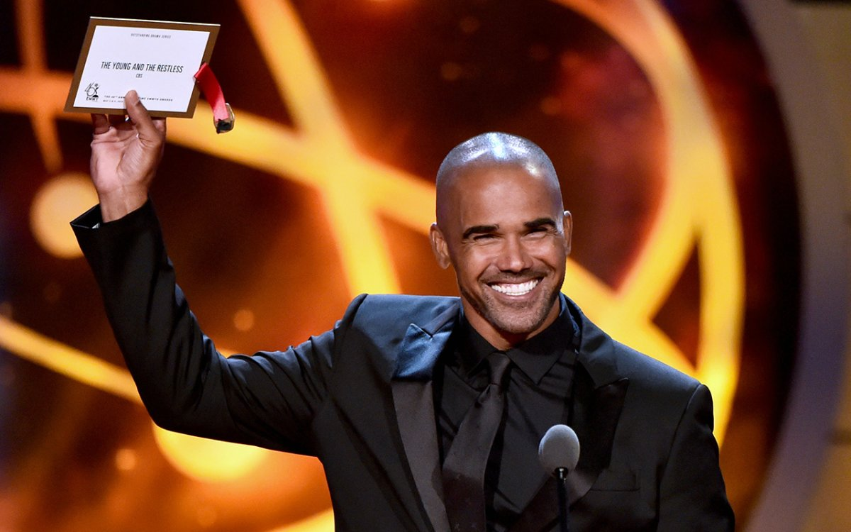 Shemar Moore speaks onstage at the 46th annual Daytime Emmy Awards at Pasadena Civic Center on May 5, 2019 in Pasadena, Calif.