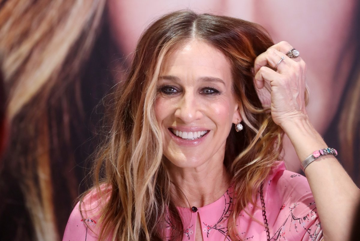 Actress Sarah Jessica Parker seen during a signing session after a presentation of a new perfume in Russia.