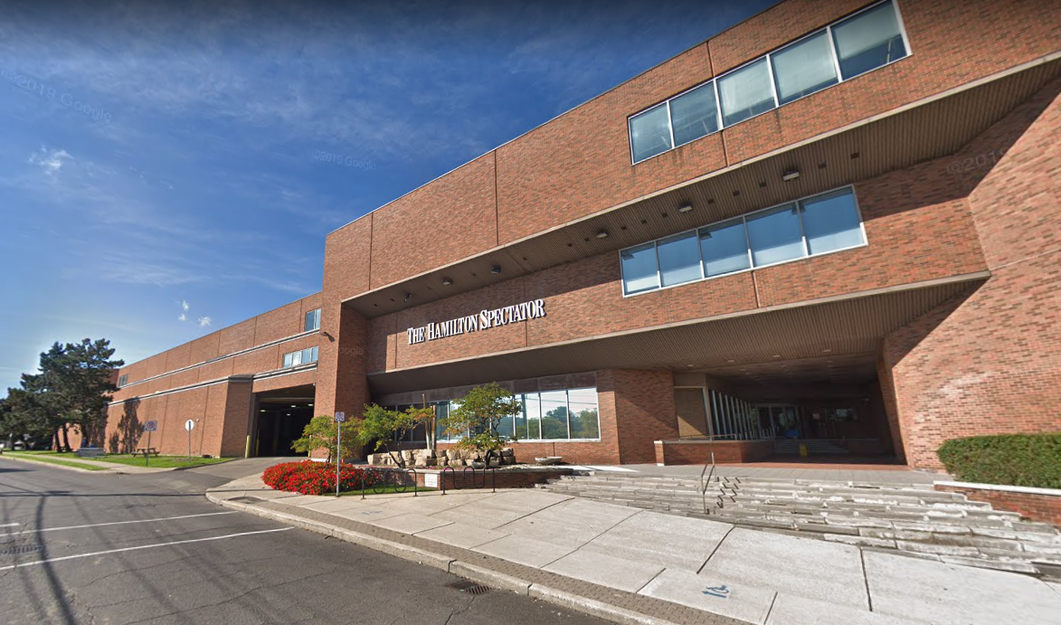 The Hamilton Spectator's building has been sold, according to Torstar Corp.