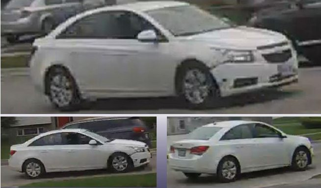 The suspect vehicle being sought into connection to a shooting at Admiral Drive and Trafalgar Street.