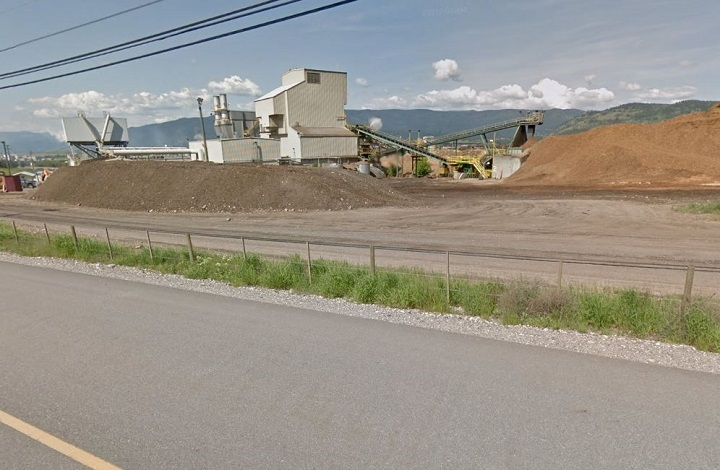 Citing high log costs and weak markets, Tolko Industries says two of its lumber mills in B.C.'s Interior will be taking time off in late May and June. The two affected mills are Armstrong, above, and Soda Creek.