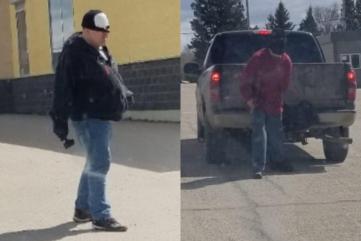 Stony Plain RCMP search for two suspects who allegedly used hammers in an attempted robbery at the Wabamun Hotel Bar Monday, May 6, 2019.