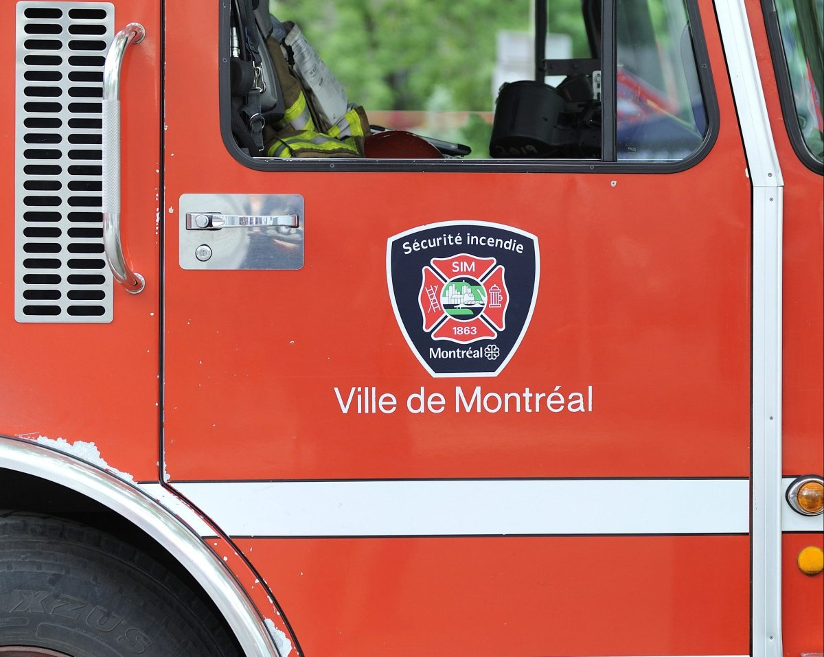 Montreal firefighters responded to the blaze, which they believe began on a balcony in the building.