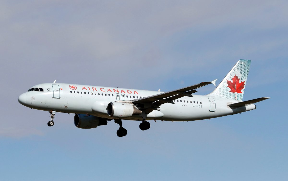 An Airbus A320 (A320-200) jetliner, belonging to Air Canada, as seen in this file photo, was diverted back to Vancouver on Sunday.