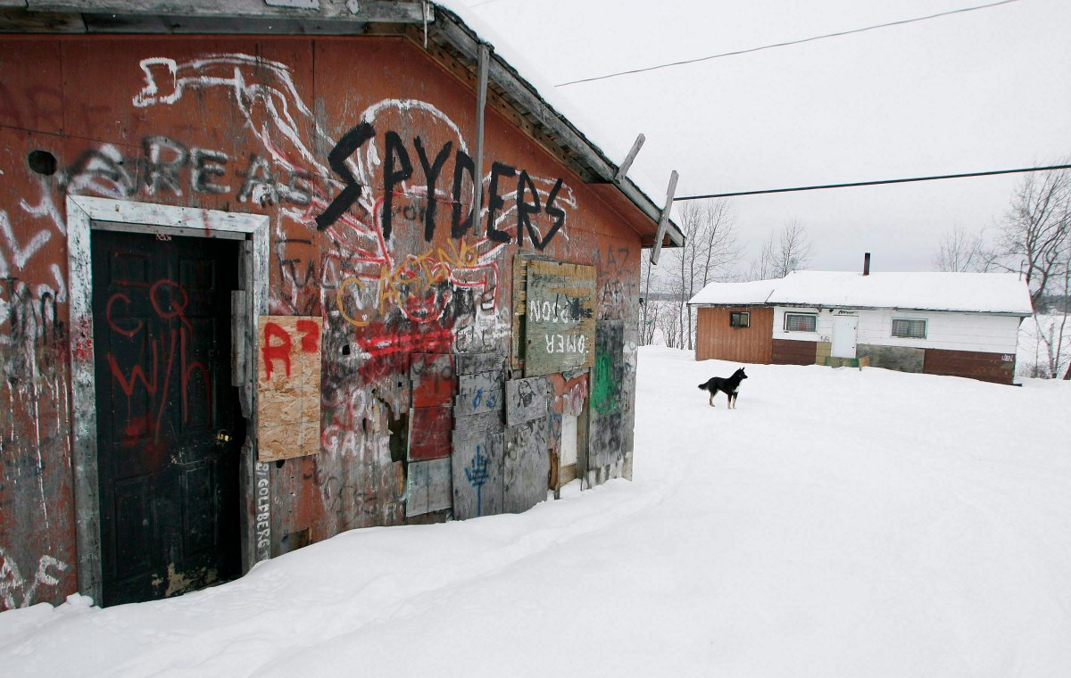 An abandoned house is shown on the Pikangikum First Nation on Friday, January 5, 2007.