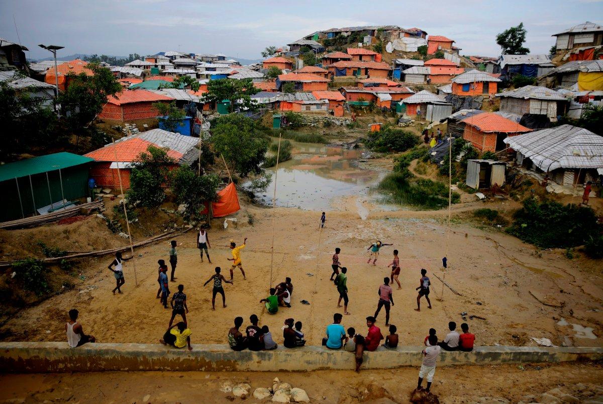 Rohingya refugees at Balukhali Refugee Camp in Bangladesh, Monday, Aug. 27, 2018.