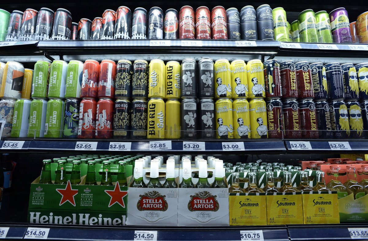Beer, including Ontario craft beers, are shown at a grocery store in Ottawa on Thursday, Aug. 9, 2018.
