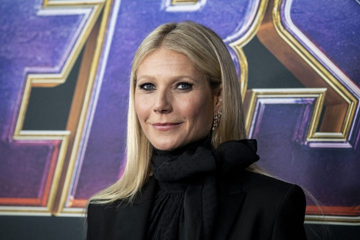 Gwyneth Paltrow poses for the photographers upon her arrival for the premiere of 'Avengers: Endgame' at the LA Convention Center in Los Angeles, California, USA, April 2019.