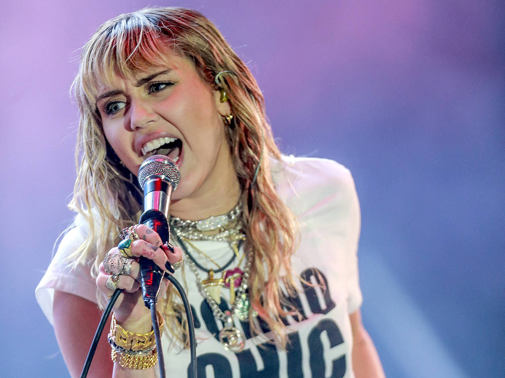 Miley Cyrus performing at the Orange Warsaw Festival 2019 in Warsaw, Poland, on June 1, 2019.