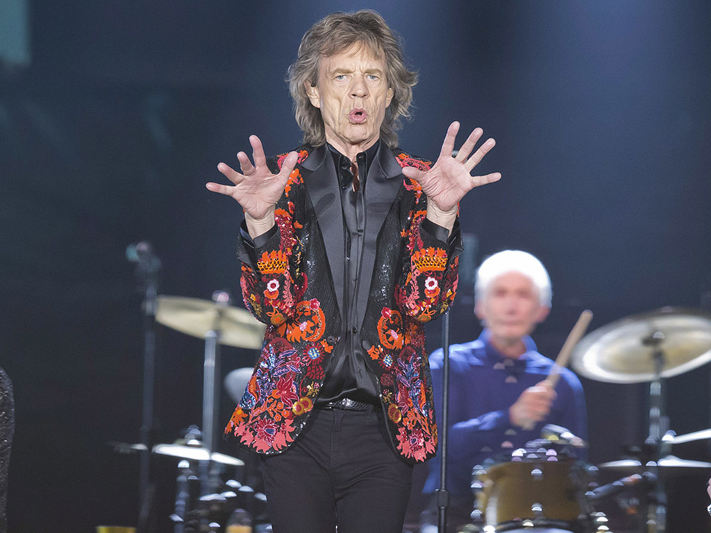 (L-R) Mick Jagger and Charlie Watts of The Rolling Stones perform onstage on the No Filter European tour at the U Arena in Nanterre, France in 2017.