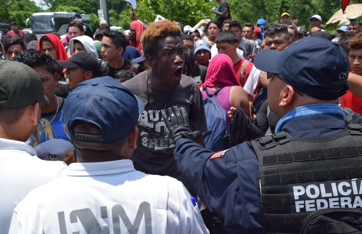 Central American migrants are detained by members of the National Institute of Migration (INAMI) and federal police in Tapachula, Chiapas, Mexico, 05 June 2019.