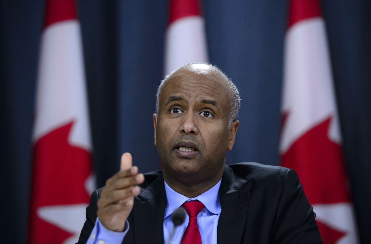 Minister of Immigration, Refugees and Citizenship Ahmed Hussen responds to the 2019 Spring Reports of the Auditor General in Ottawa on Tuesday, May 7, 2019.