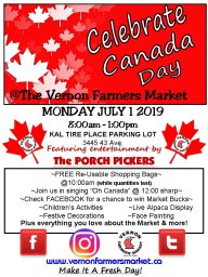 Continue reading: Vernon Farmers Market Canada Day Celebration