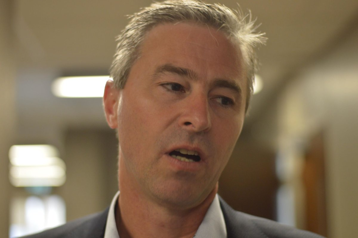 Nova Scotia Progressive Conservative Leader Tim Houston speaks to media at Nova Scotia Supreme Court on June 17, 2019.