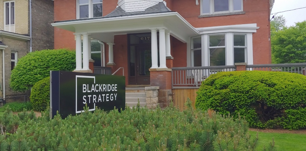 The office of Blackridge Strategy, a PR firm that came under scrutiny after creating two websites targeting candidates running during the 2018 municipal election.