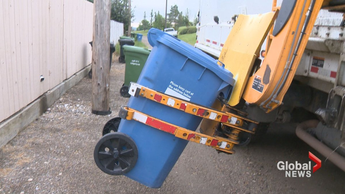Calgary has been collecting recycling from curbside blue carts for 10 years.