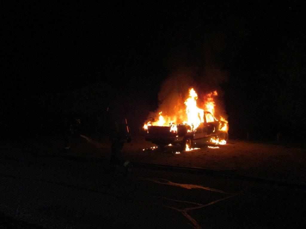 Emergency crews responded to a suspicious vehicle fire in Vernon early Thursday.
