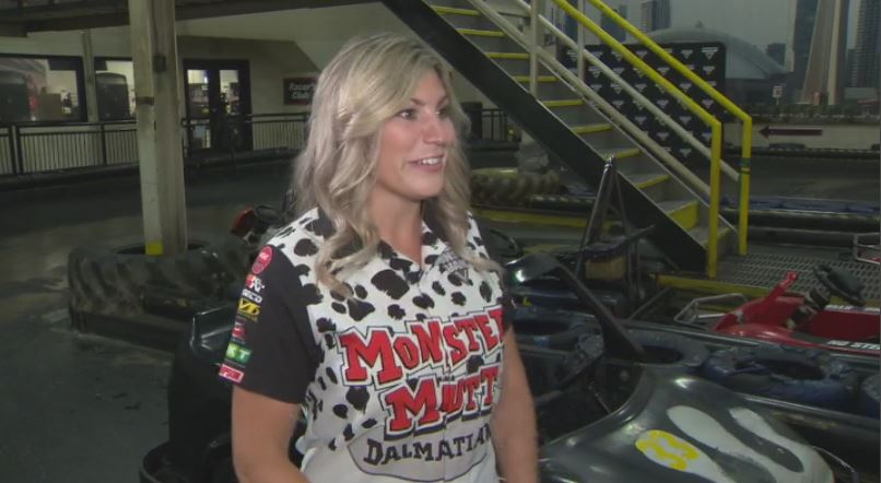 Cynthia Gauthier is Canada's first female Monster Jam driver.