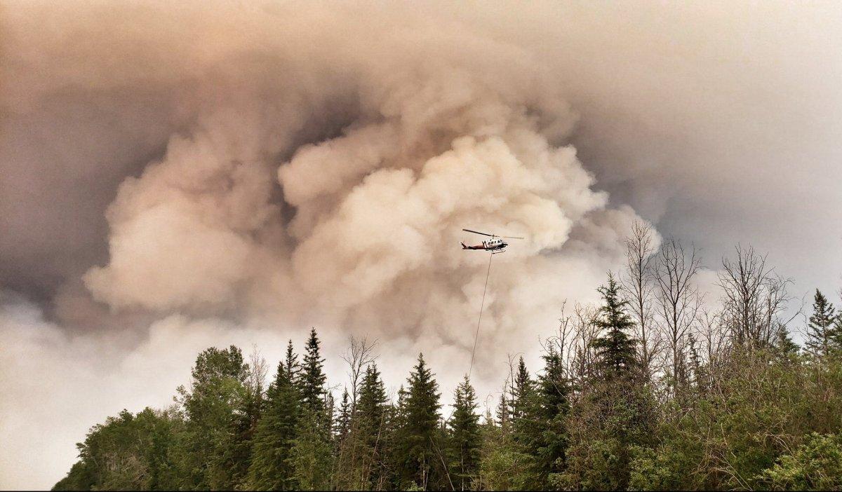 The Chuckegg Creek wildfire in northwestern Alberta.