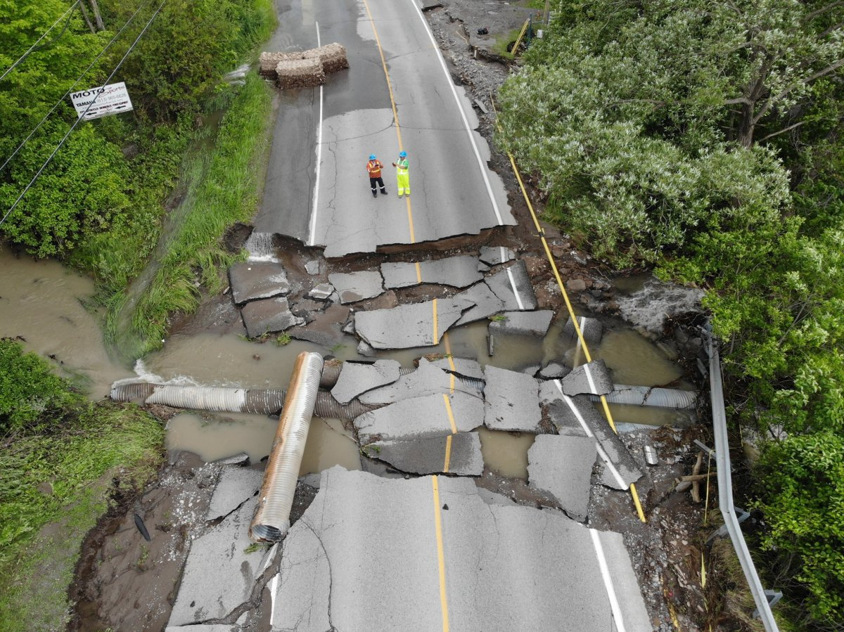 A dam failure in Quinte West destroyed a large portion of Trenton-Frankford Road in Glen Miller, Ont.