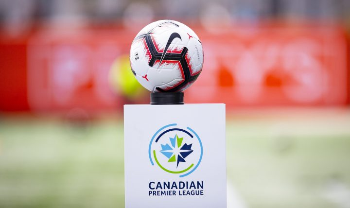 A file photo of a soccer ball used in the Canadian Premier League.