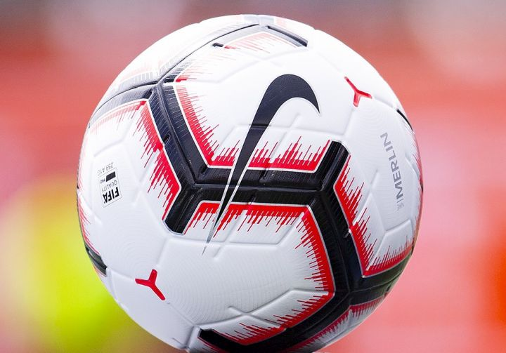 A file photo of a soccer ball used in the CPL.