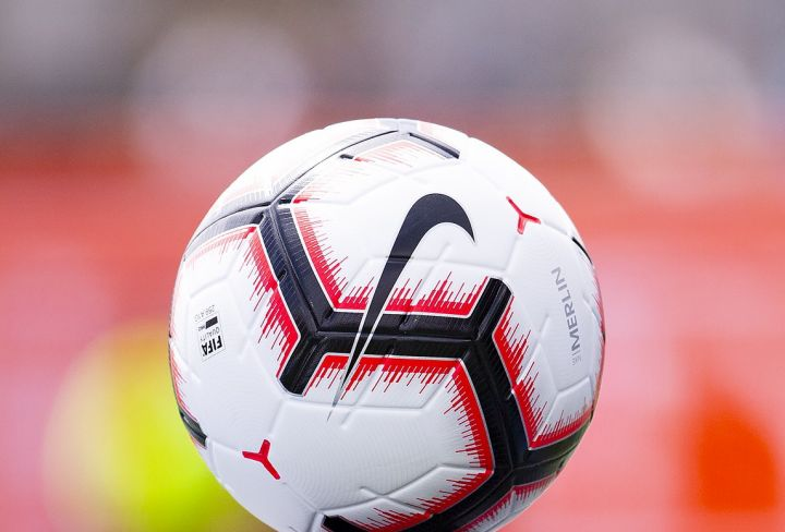 A file photo of a soccer ball.