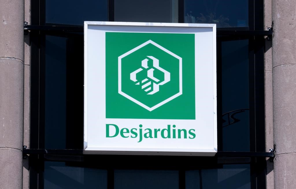 A Caisse populaire Desjardins sign is seen in Montreal on Tuesday, June 18, 2019. THE CANADIAN PRESS/Paul Chiasson.
