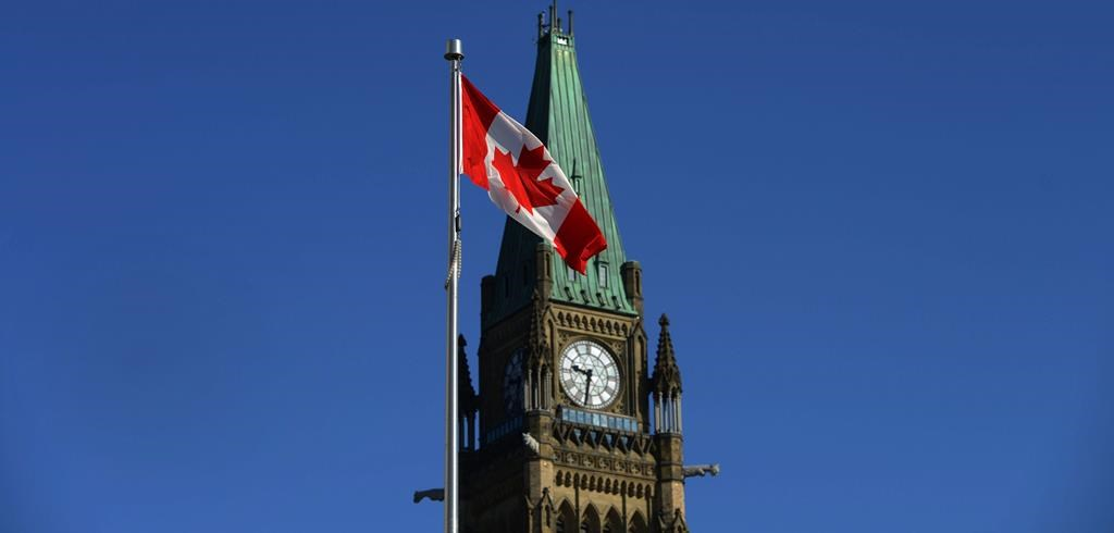 The Peace Tower is pictured on Parliament Hill on Monday, September 15, 2014.