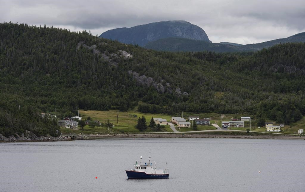 A fishing boat moored in Neddy Harbour in Gros Morne National Park, Newfoundland and Labrador, on Monday, August 15, 2016.