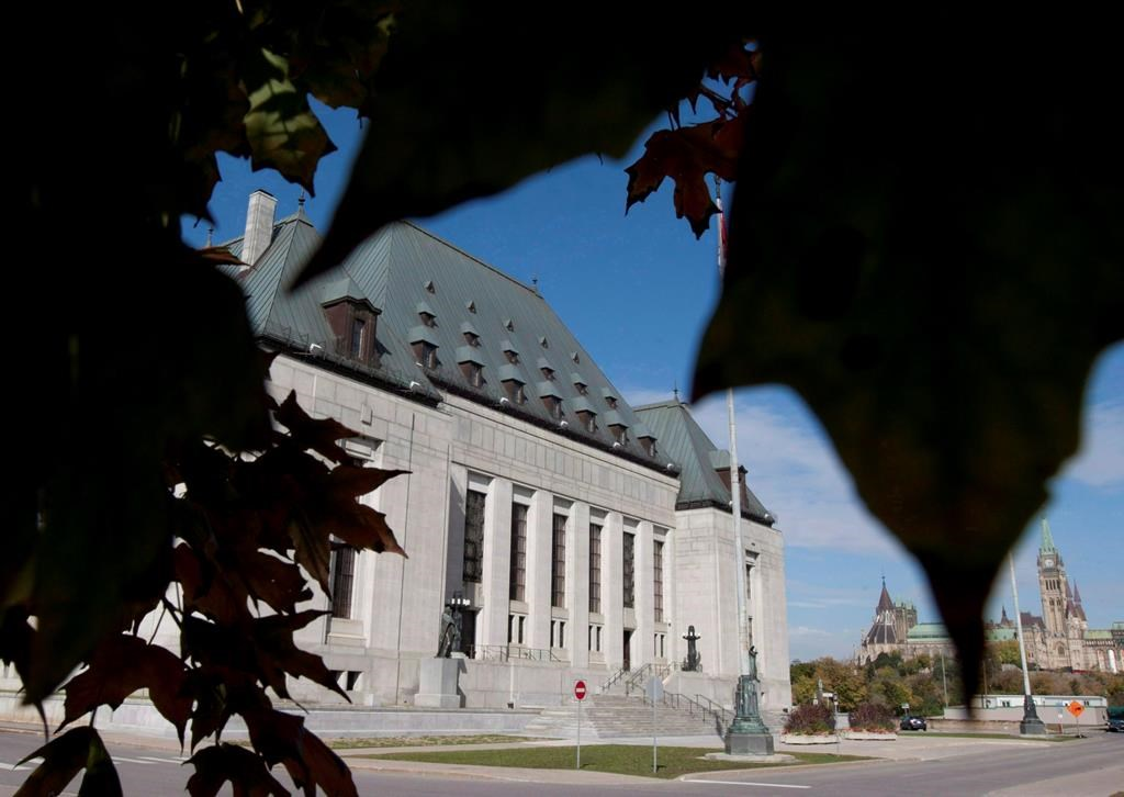 The Supreme Court of Canada is seen in Ottawa on October 2, 2012.