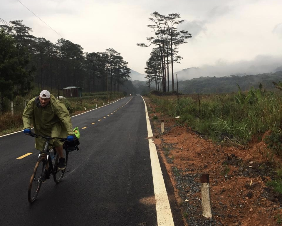 After biking through Asia more than a month ago, Ryan Phillips embarked on a Canadian cross-country cycling journey on Sunday.