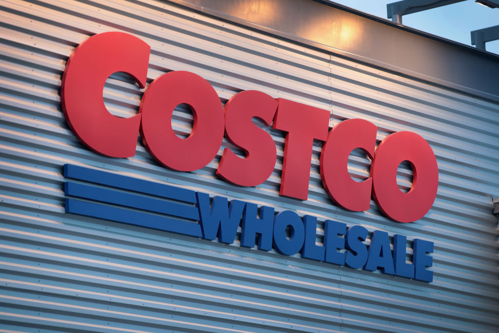 A sign marks the location of a Costco store on December 12, 2018 in Chicago, Illinois.