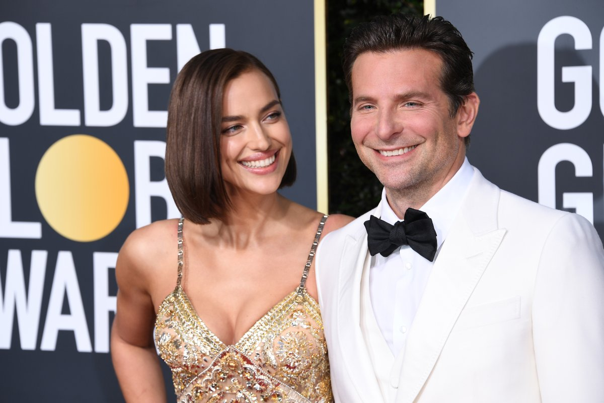 Irina Shayk and Bradley Cooper attend the 76th Annual Golden Globe Awards at The Beverly Hilton Hotel on Jan. 6, 2019, in Beverly Hills, California.