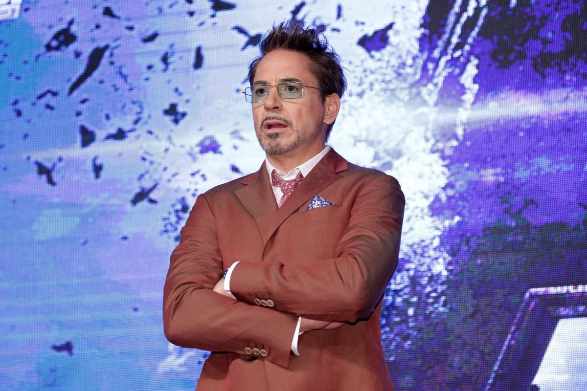 Robert Downey Jr. attends the 'Avengers: Endgame' Asia press conference on April 15, 2019 in Seoul, South Korea.