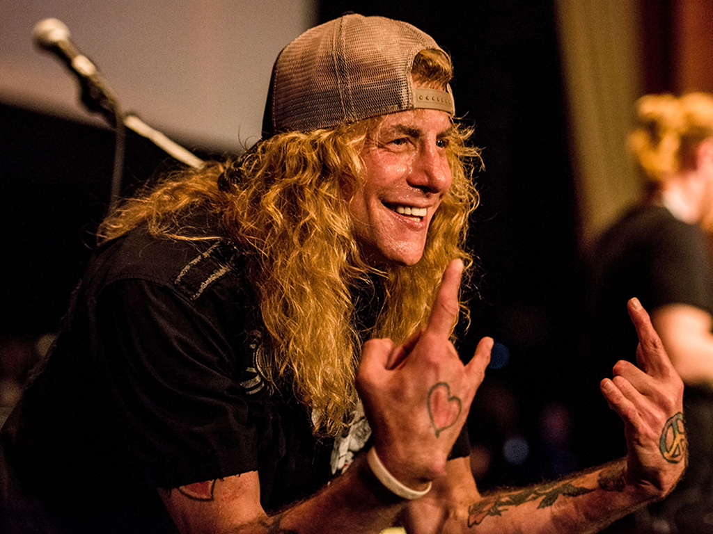 Steven Adler performs during the 5th Annual Rock Against MS concert at Los Angeles Theatre on March 25, 2017 in Los Angeles, Calif.