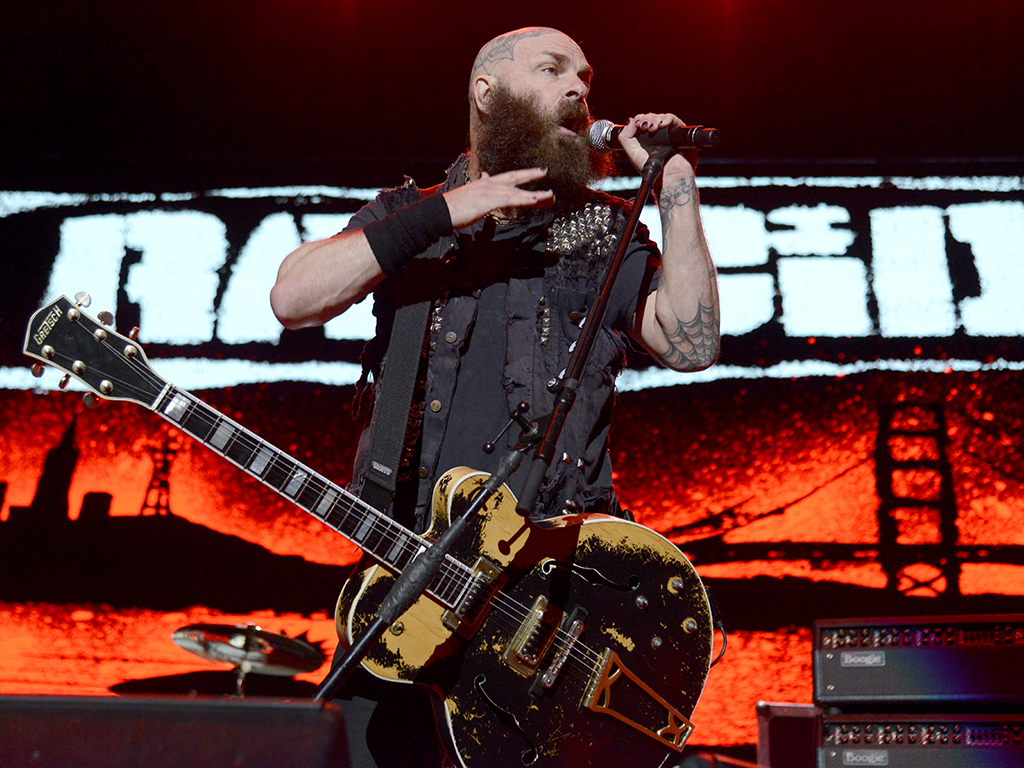 Tim Armstrong of Rancid performs during the From Boston to Berkeley tour at the University of California in Berkeley, Calif., on Aug. 20, 2017.