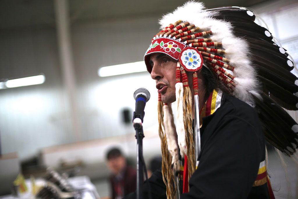 Grand Chief Arlen Dumas.