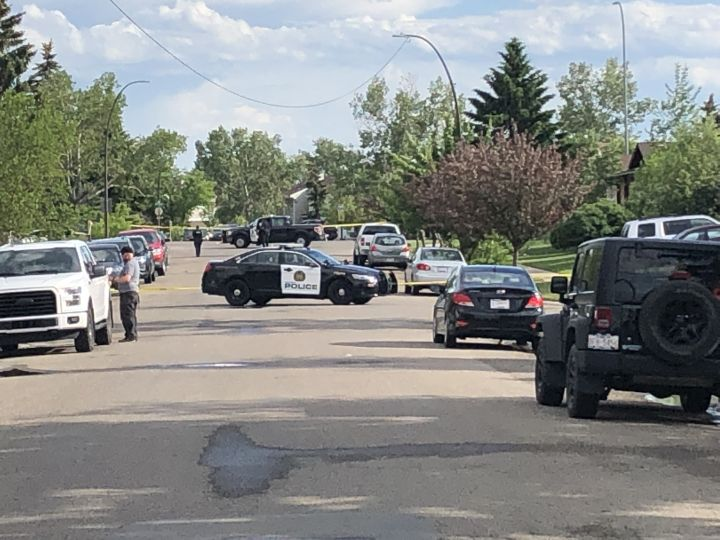 Police investigate a possible shooting in Calgary Thursday, June 13, 2019.